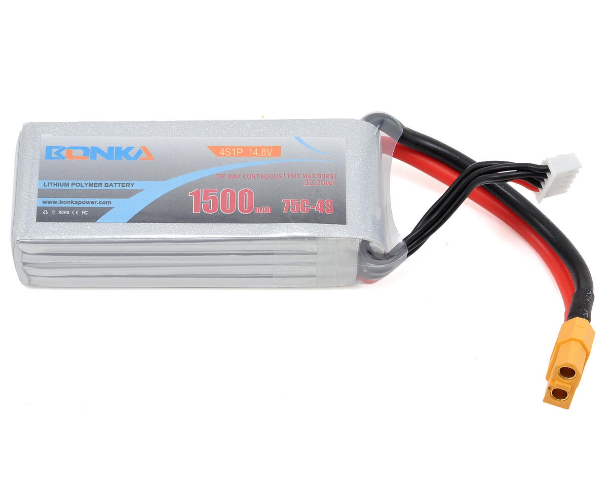 Bonka Power 4S Li-Po Battery 75C (14.8V/1500mAh) (JST-XH)