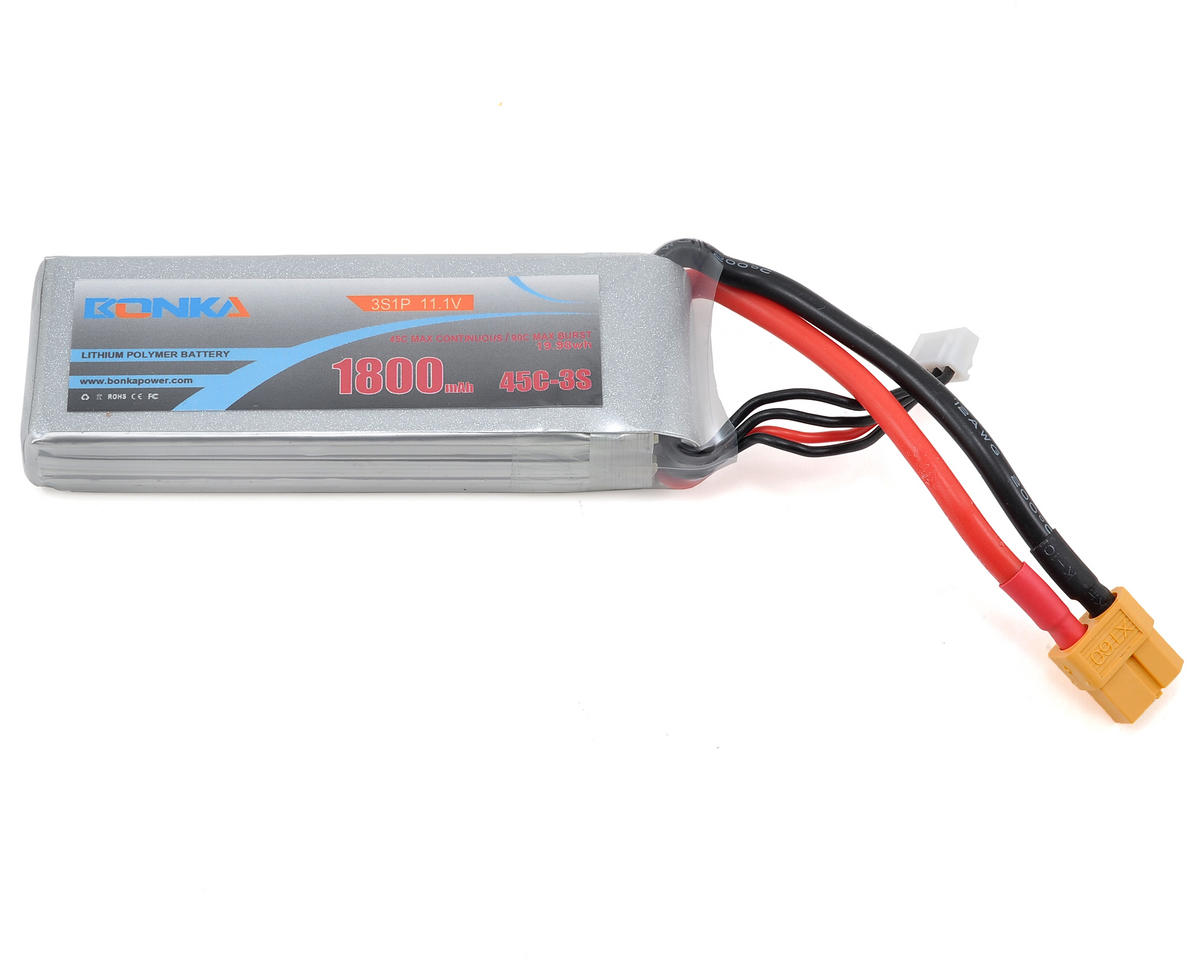 Bonka Power 4S Li-Poly Battery 45C (14.8V/1800mAh) (JST-XH)