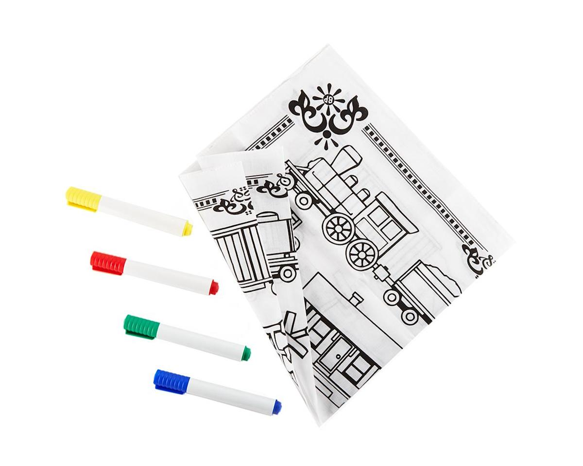 Brooklyn Peddler KTBNDPNT Railroad Engineer Bandana Coloring Kit