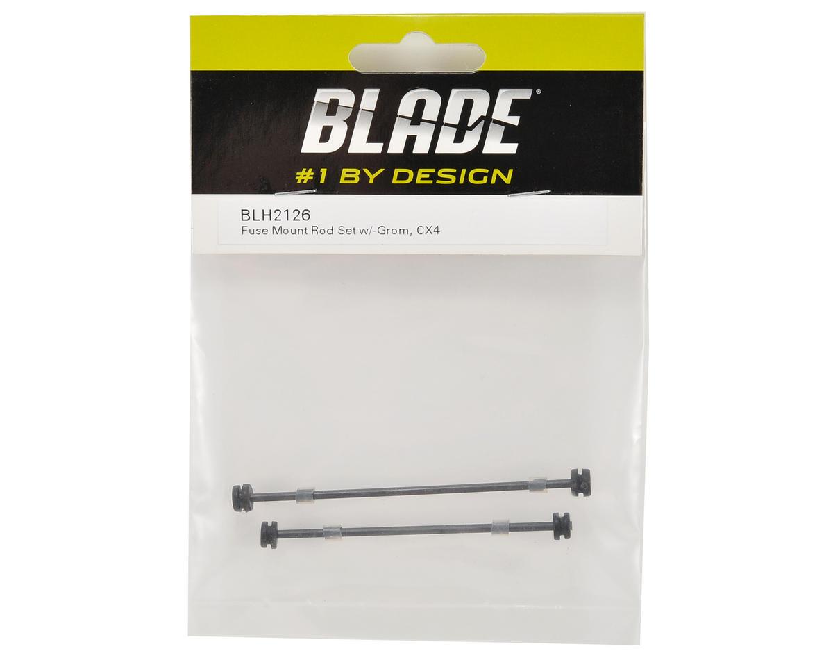 Blade Helis Fuselage Mount Rod Set w/Grommets
