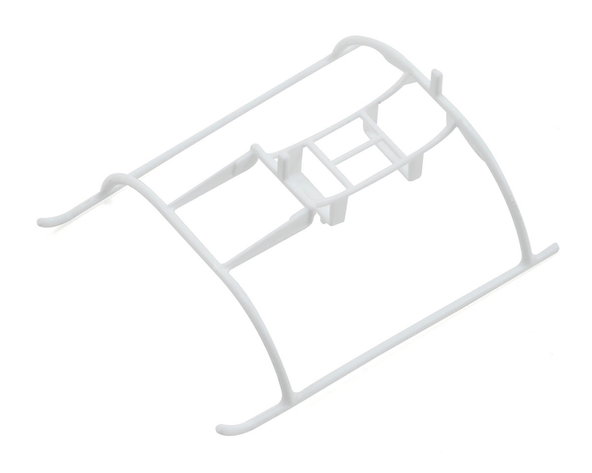 Landing Skids with Battery Mount (White) by Blade Helis