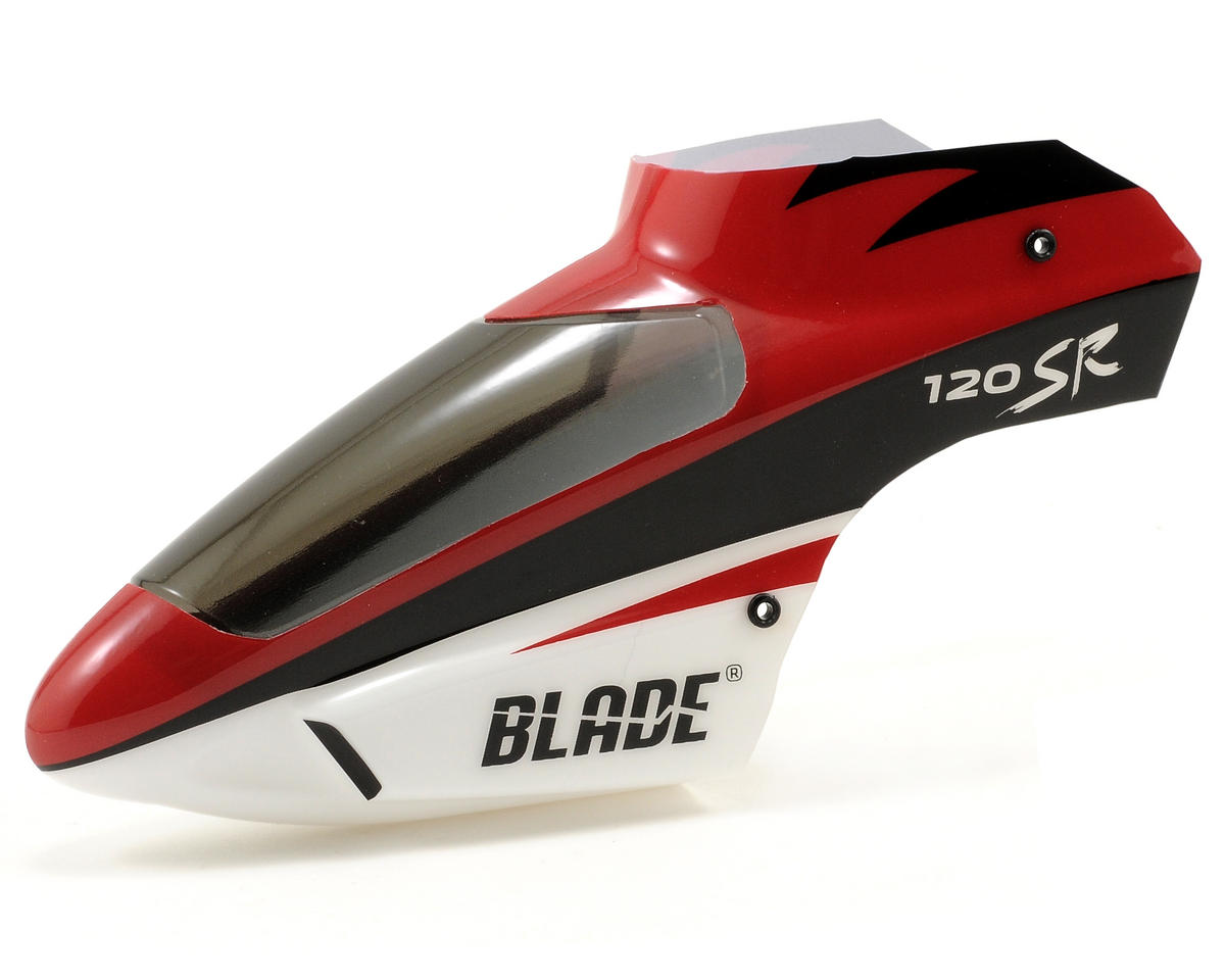 Blade Helis Complete Red Canopy w/Grommets: 120 SR