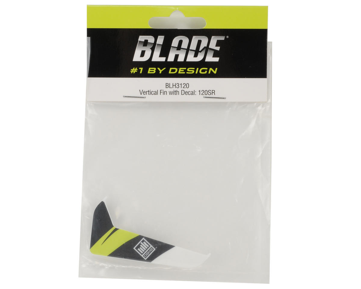 Blade Helis Vertical Fin w/Yellow Decal: 120 SR