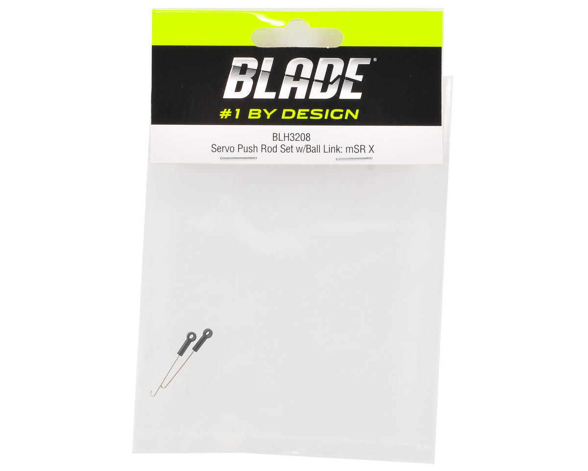 Blade Helis Servo Push Rod Set w/Ball Link (mSR X)