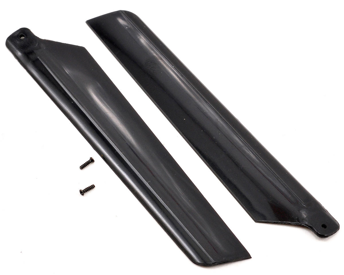 Blade Helis Main Rotor Blade Set w/Hardware (Black) (mSR X)