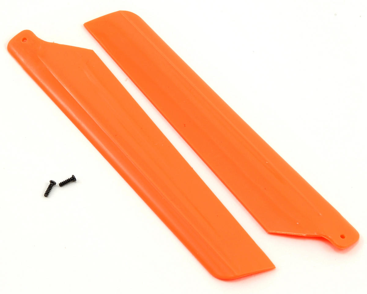 Main Rotor Blade Set w/Hardware (Orange) (2) (mSR X) by Blade Helis