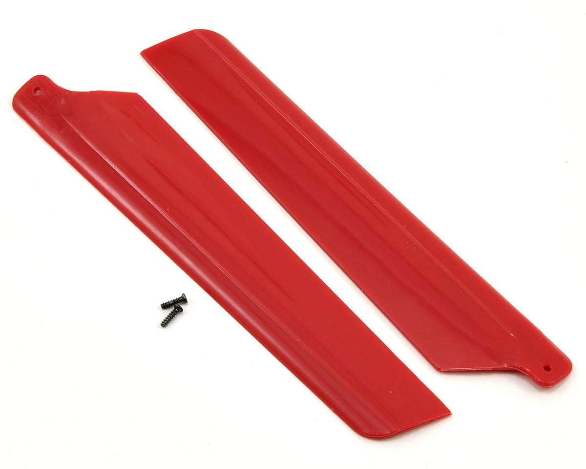 Blade Helis Main Rotor Blade Set w/Hardware (Red) (2) (mSR X)