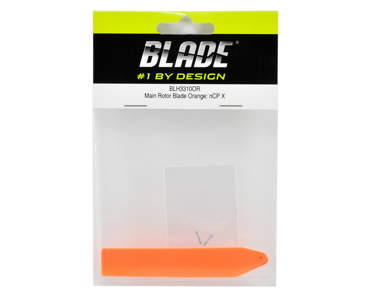 Blade Helis Main Rotor Blade Set (Orange) (Nano CP X)