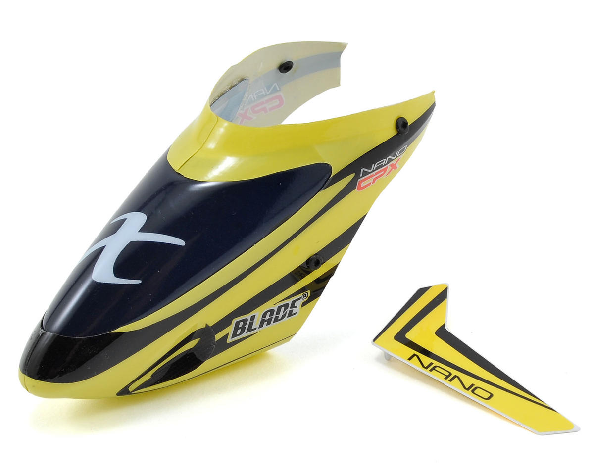 Nano CP X Complete Canopy w/Vertical Fin (Yellow) by Blade
