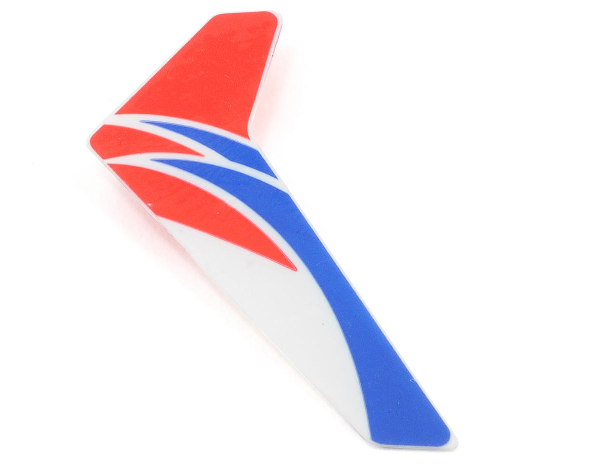 Blade Helis Vertical Fin w/Decal (Red)