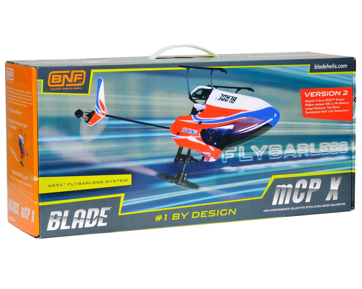 Blade Helis mCP X V2 Bind-N-Fly Electric Collective Pitch Flybarless Micro Helicopter