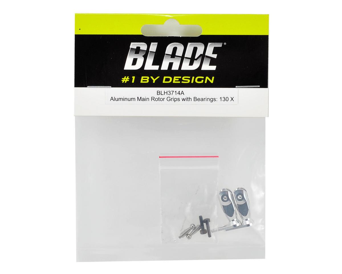 Blade Helis Aluminum Main Rotor Grip Set w/Bearings