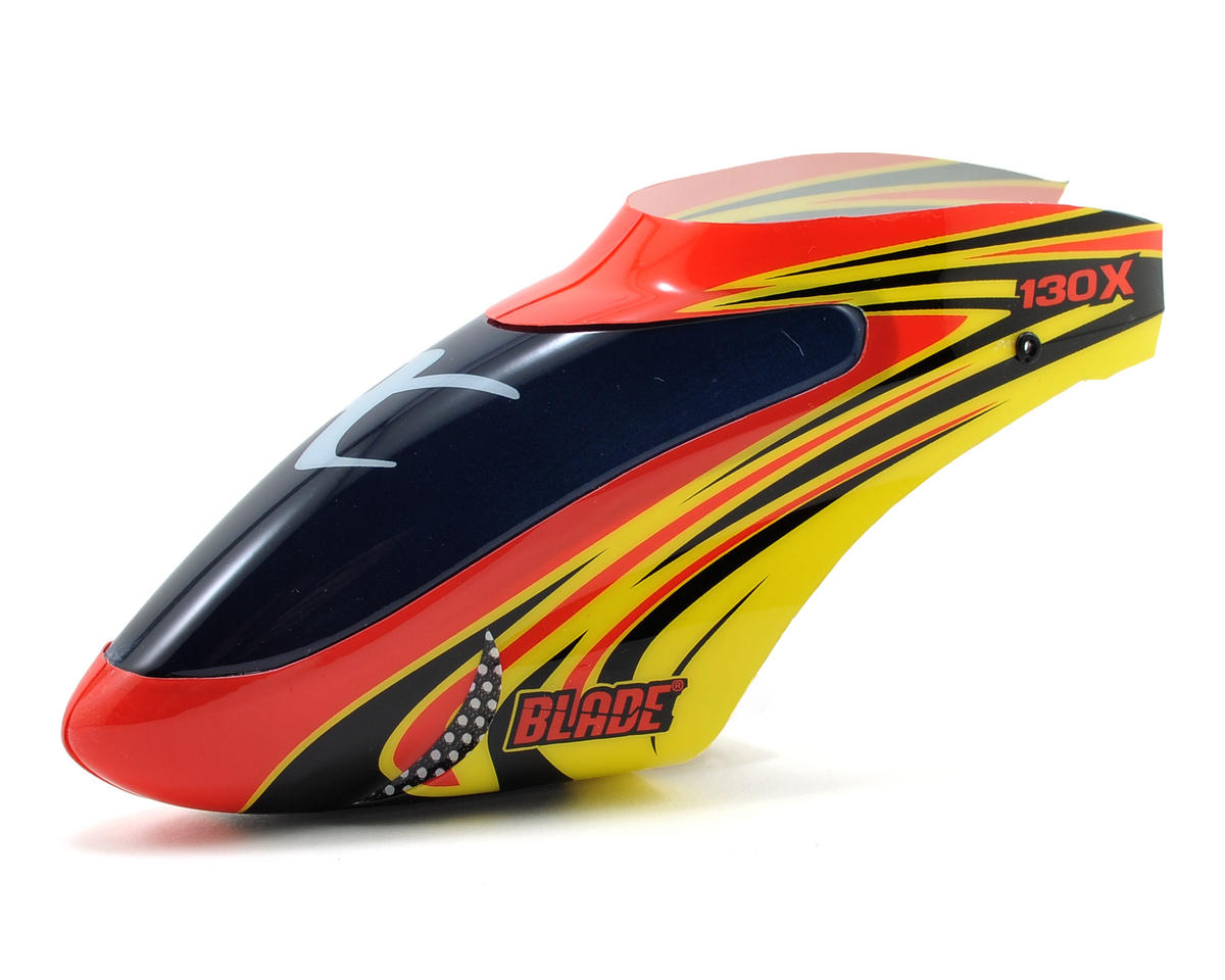 Blade Helis Canopy (Red/Yellow) (130 X)