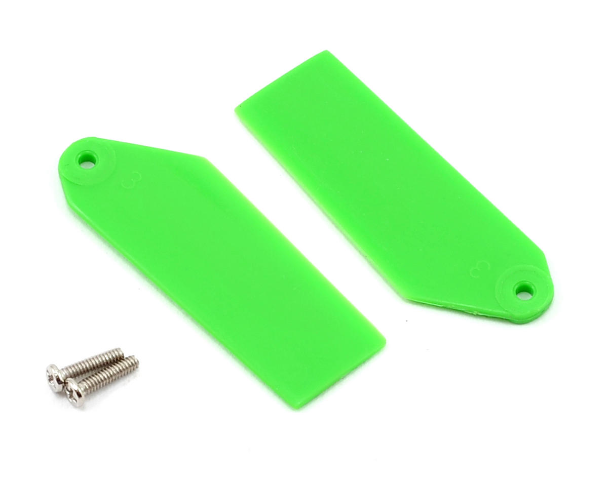 Tail Rotor Blade Set (Green) (130 X) by Blade Helis