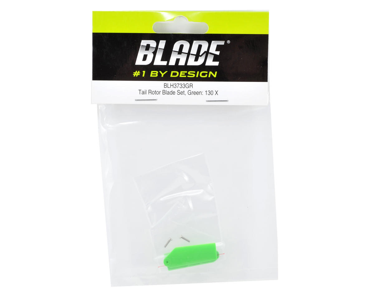 Blade Helis Tail Rotor Blade Set (Green) (130 X)