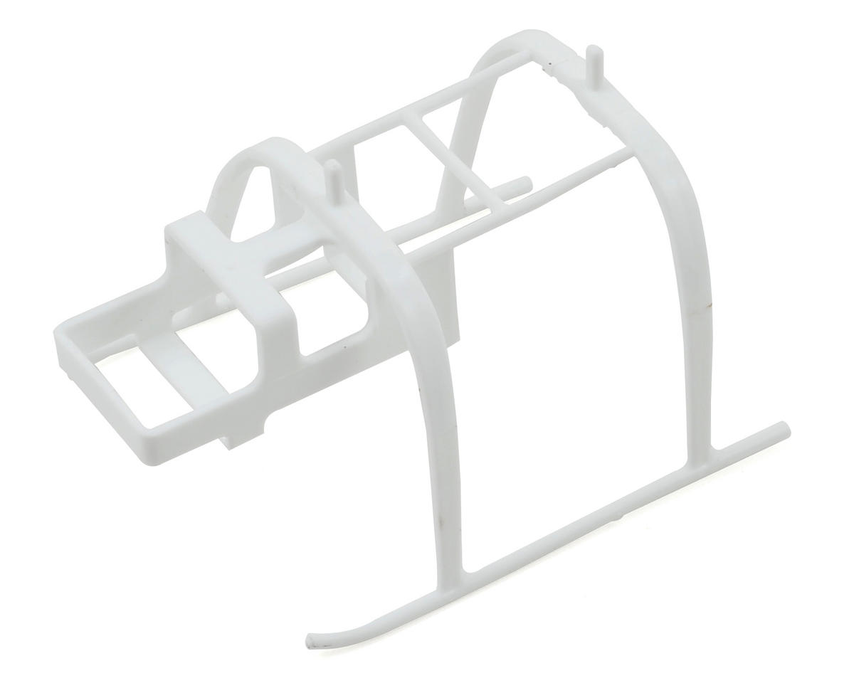 Blade Helis Landing Skid & Battery Mount (White)
