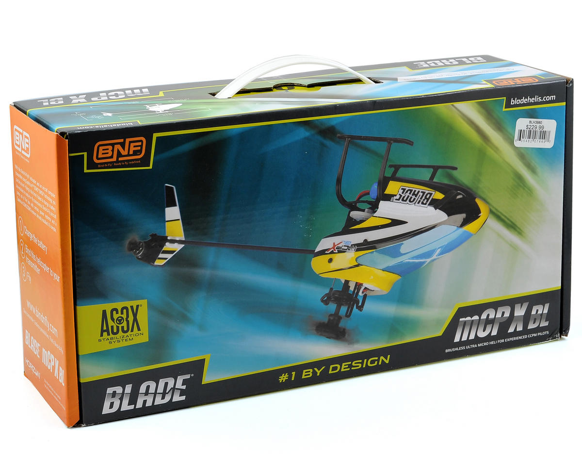 Blade Helis mCP X BL Bind-N-Fly Electric Collective Pitch Flybarless Micro Helicopter