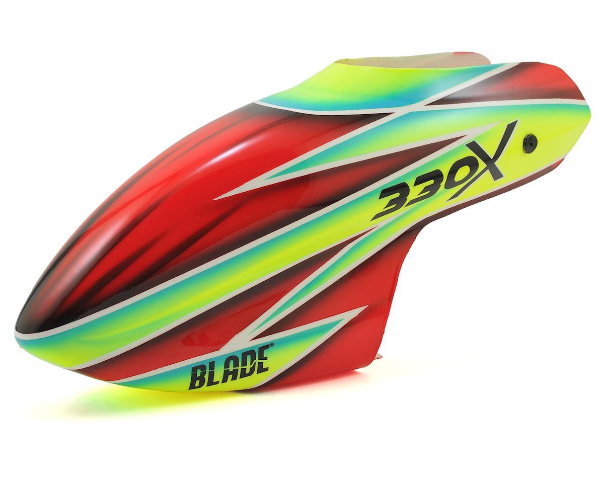 Blade Helis 330X Fiberglass Canopy (Green/Red)