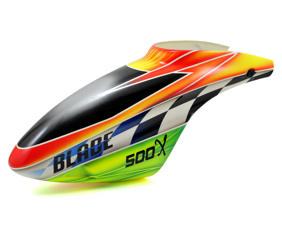 "Blade 500 X Helis Fiberglass ""B"" Canopy (Orange/Green)"