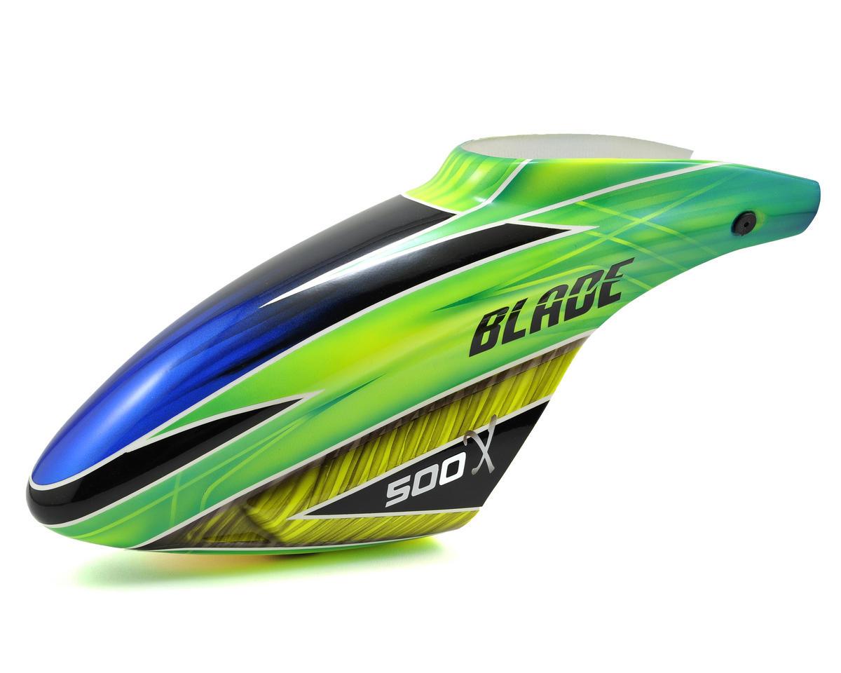 "Blade Helis 500 X Fiberglass ""C"" Canopy (Green)"
