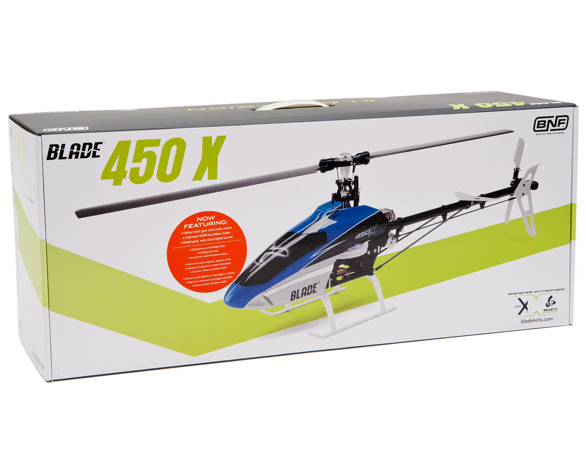 Blade 450 X Bind-N-Fly Flybarless Electric Collective Pitch Helicopter  w/BeastX