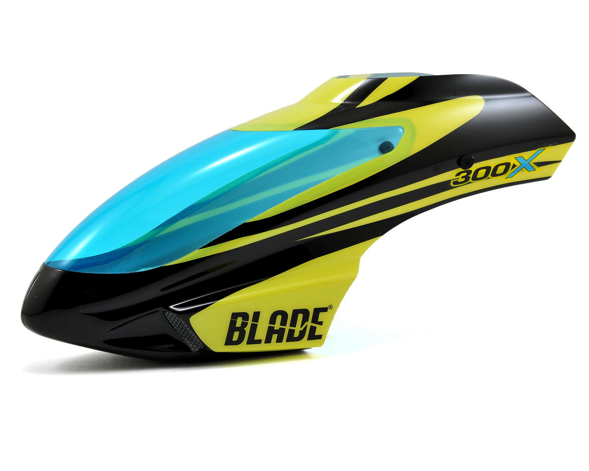 Blade Helis 300 X Option Canopy (Black/Yellow)