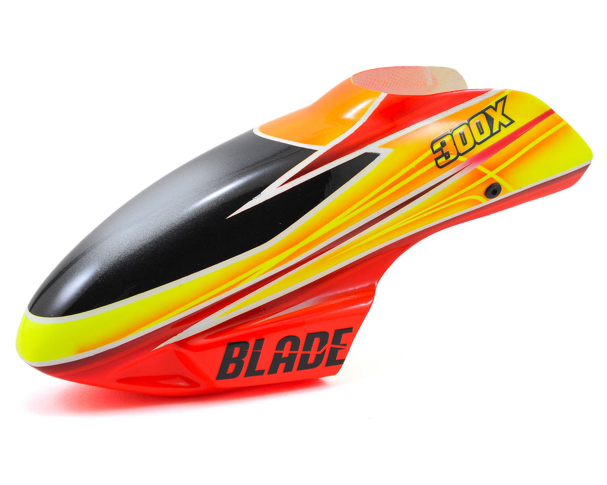 Blade Helis 300 X Fiberglass Canopy (Orange/Yellow)