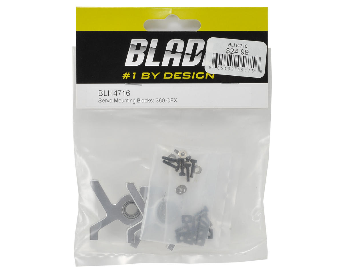 Image 2 for Blade Aluminum Servo Mounting Block Set