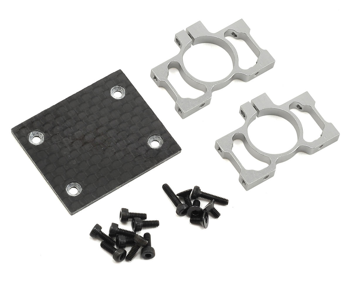 Blade Alluminum Tailboom Mount & Carbon Fiber Plate Set