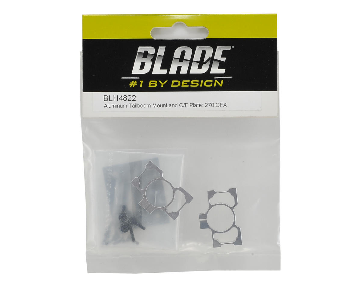 Blade Helis Alluminum Tailboom Mount & Carbon Fiber Plate Set