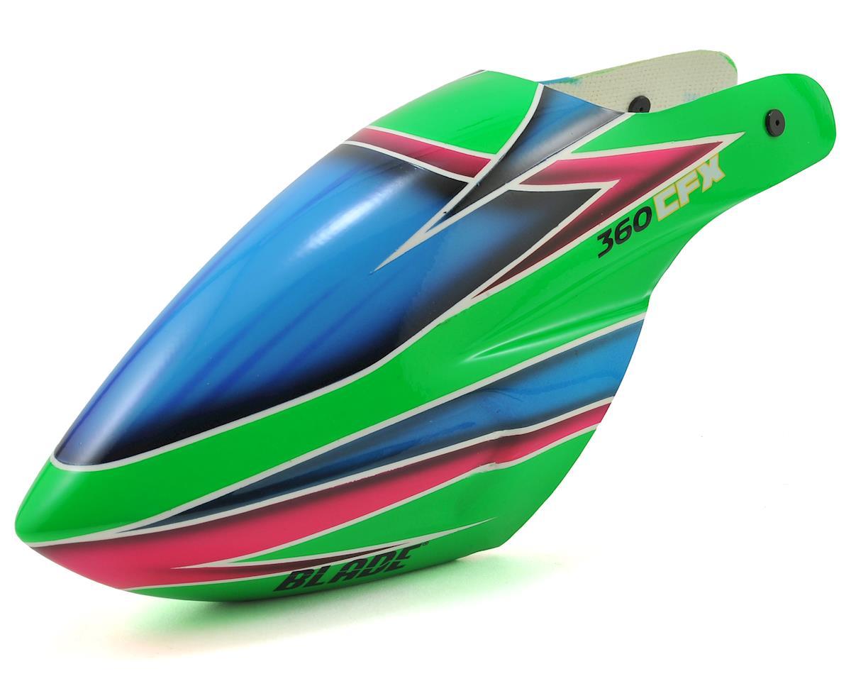 Blade Helis 360 CFX 3S Fiberglass Canopy (Green/Blue)