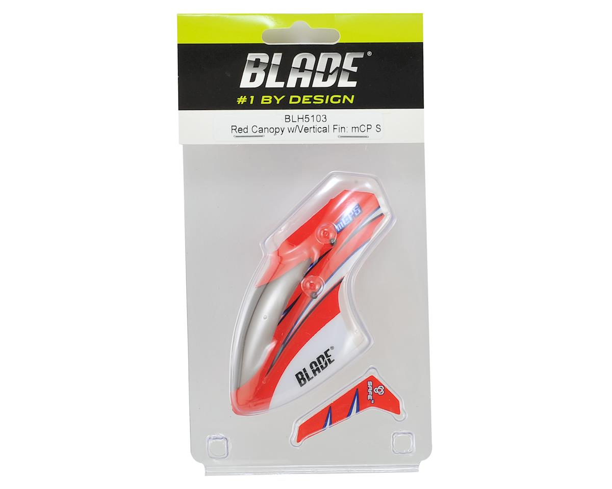 Blade mCP S Canopy w/Vertical Fin (Red)