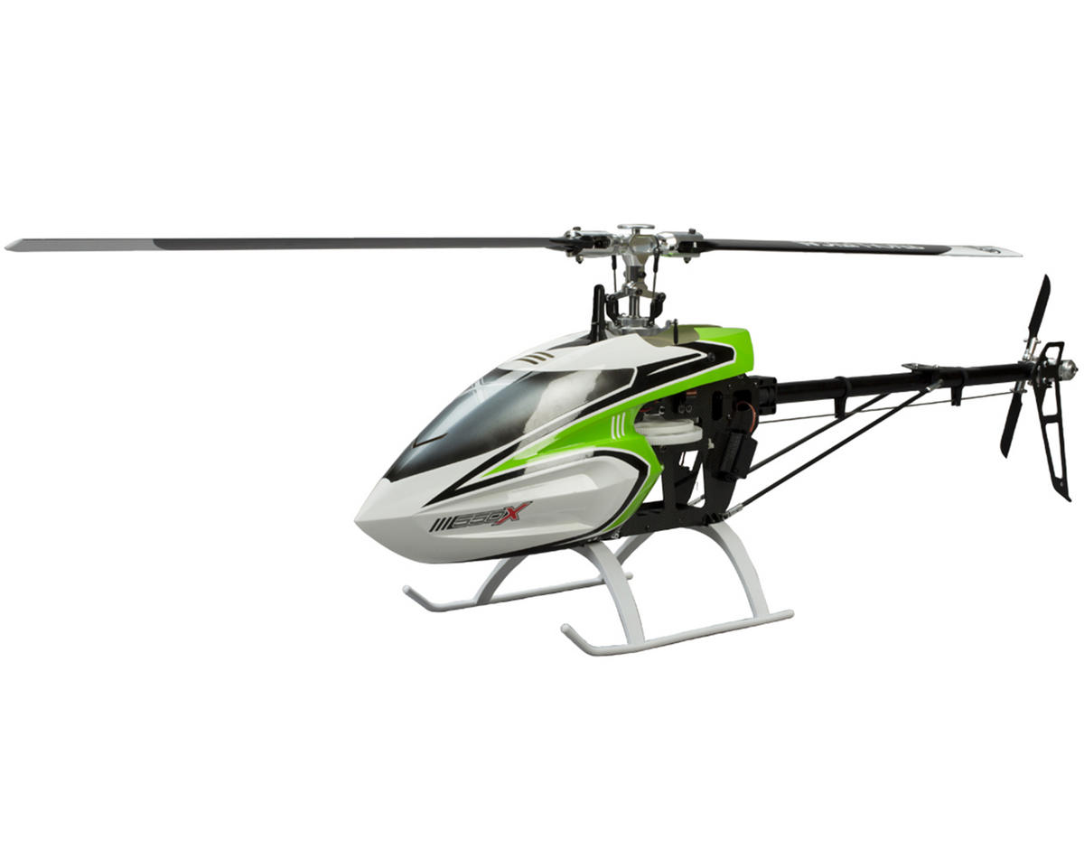 Blade Helis 550 X Pro Series Flybarless Helicopter Combo w/AR7200BX, 4 Servos, 120HV, Motor & Bl