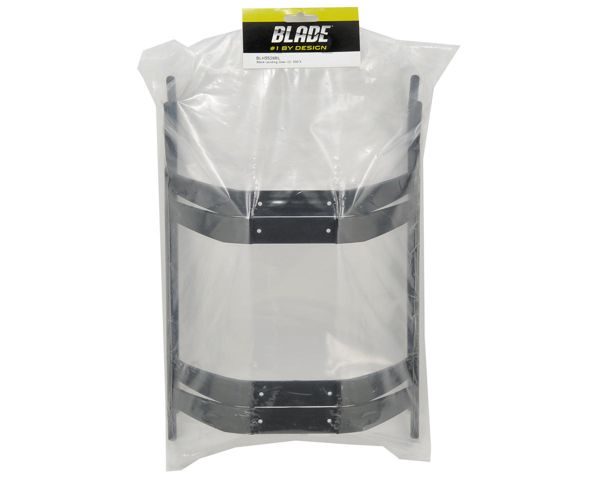 Blade Helis Landing Gear Set (Black) (2)