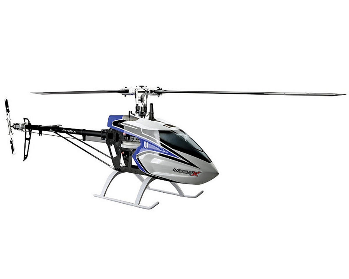 Blade Helis 600 X Pro Series Flybarless Helicopter Combo w/AR7200BX, 4 Servos, 80HV, Motor, & CF