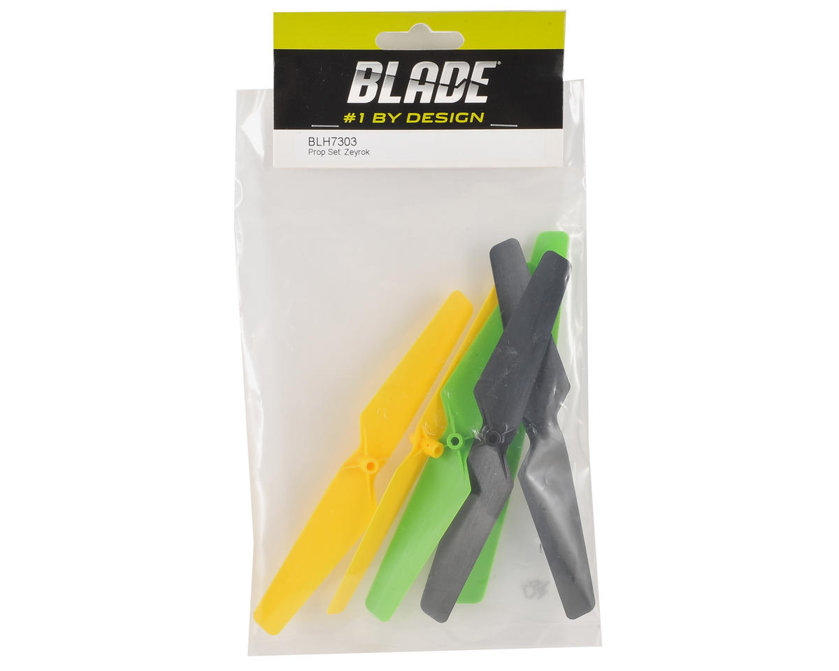 Blade Helis Zeyrok Prop Set (Yellow, Green, Black)