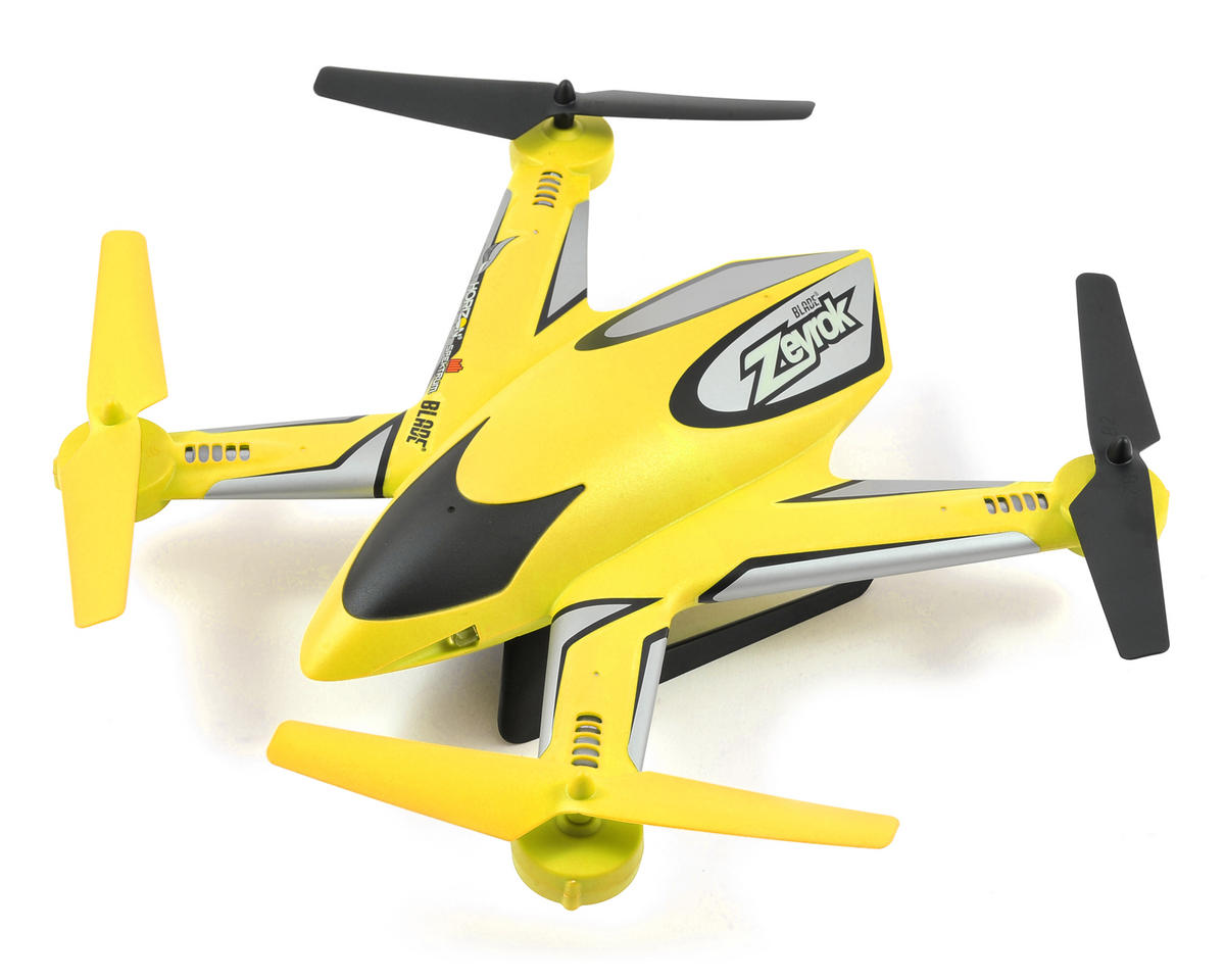 Blade Helis Zeyrok BNF Micro Electric Quadcopter Drone (Yellow)