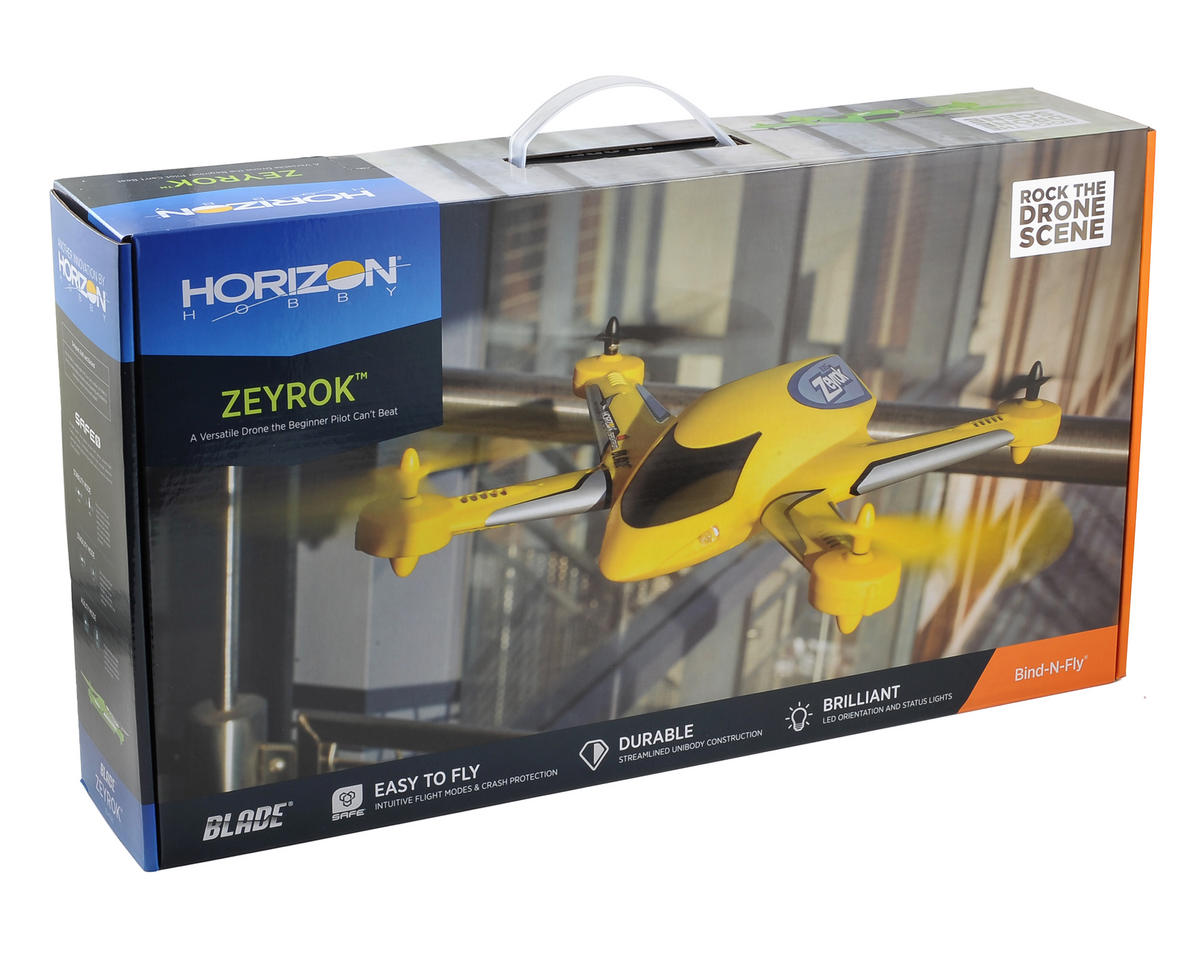 Blade Zeyrok BNF Micro Electric Quadcopter Drone (Yellow)