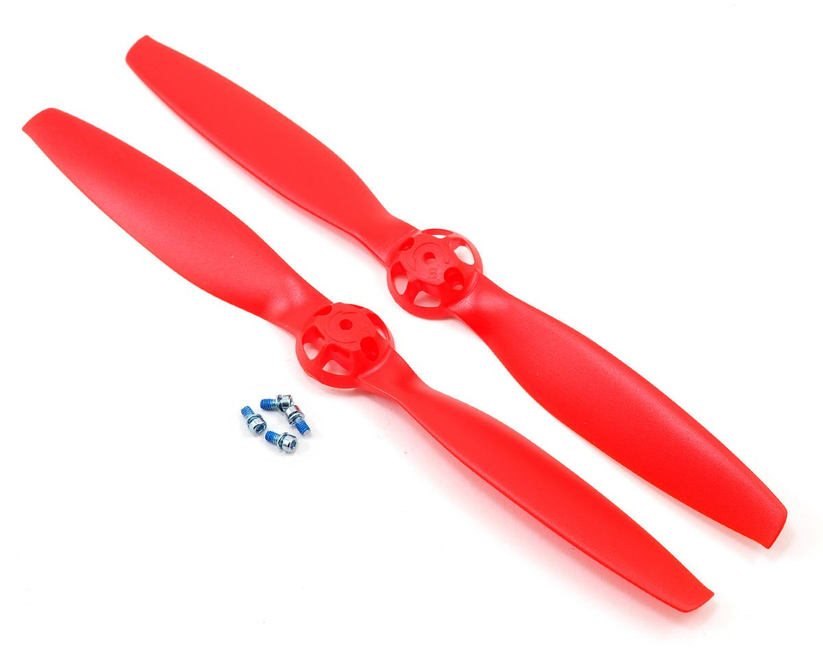 Blade 350 QX3 Helis CW & CCW Rotation Propeller (Red) (2)