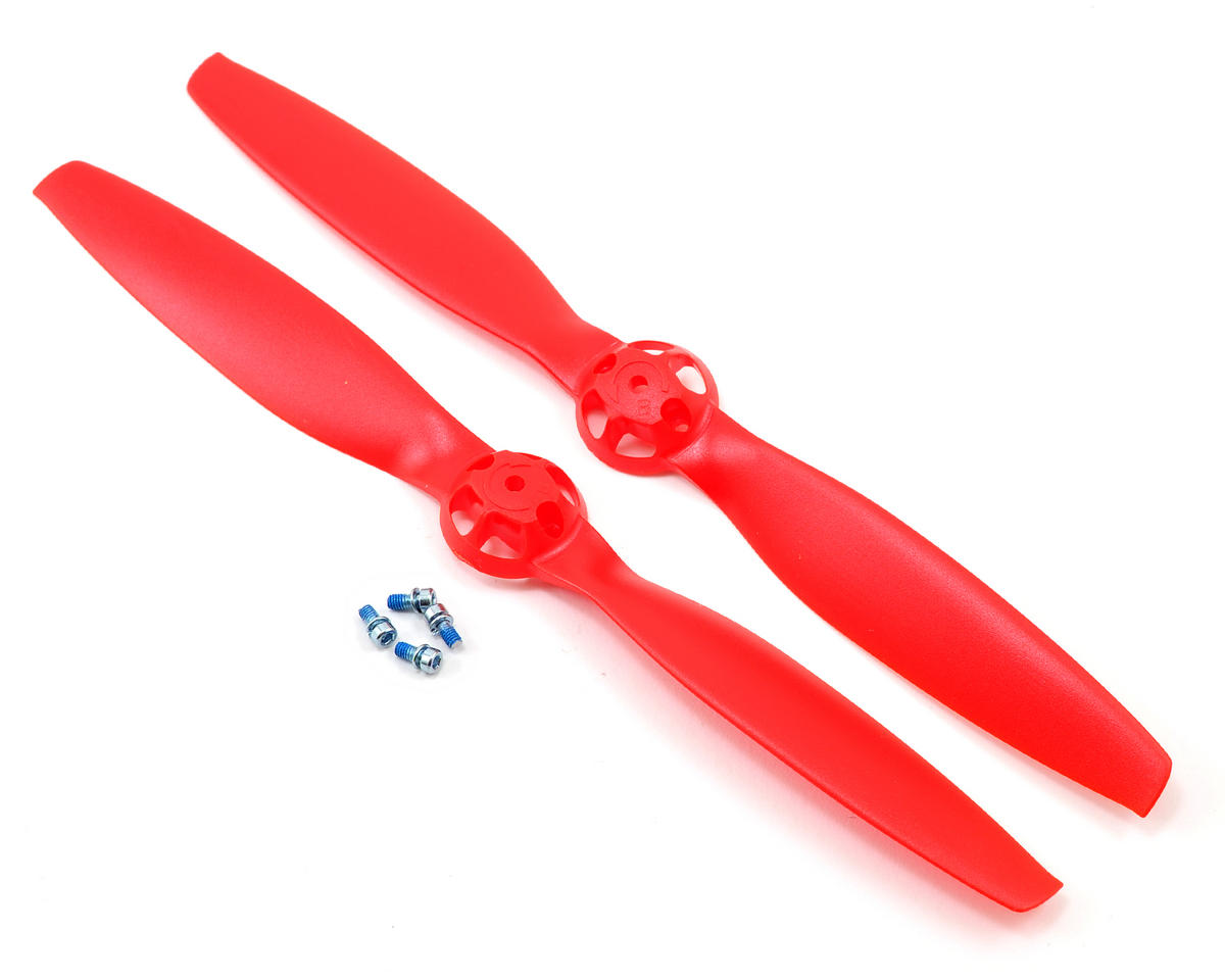 Blade 350 QX Helis CW & CCW Rotation Propeller (Red) (2)