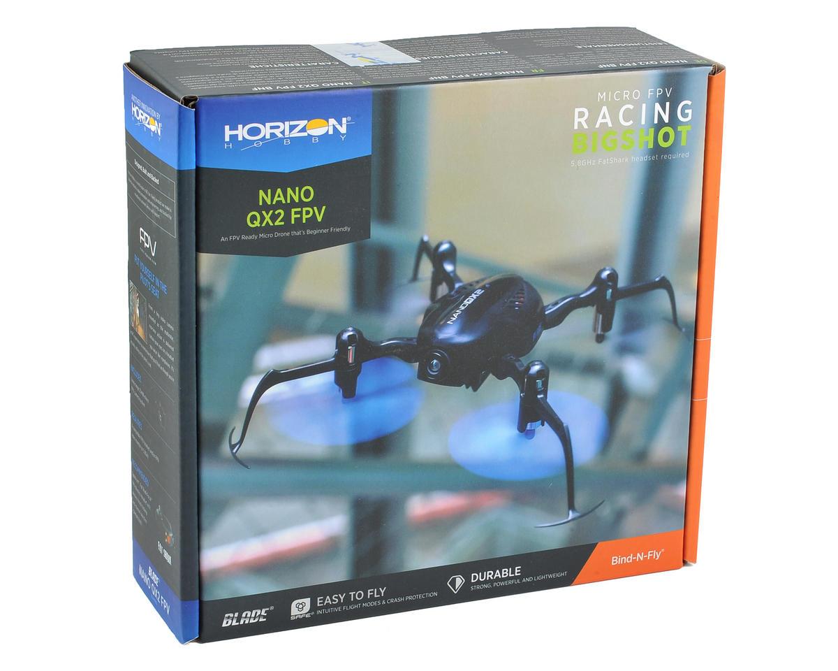 Blade Helis Nano QX2 FPV BNF Micro Electric Quadcopter Drone