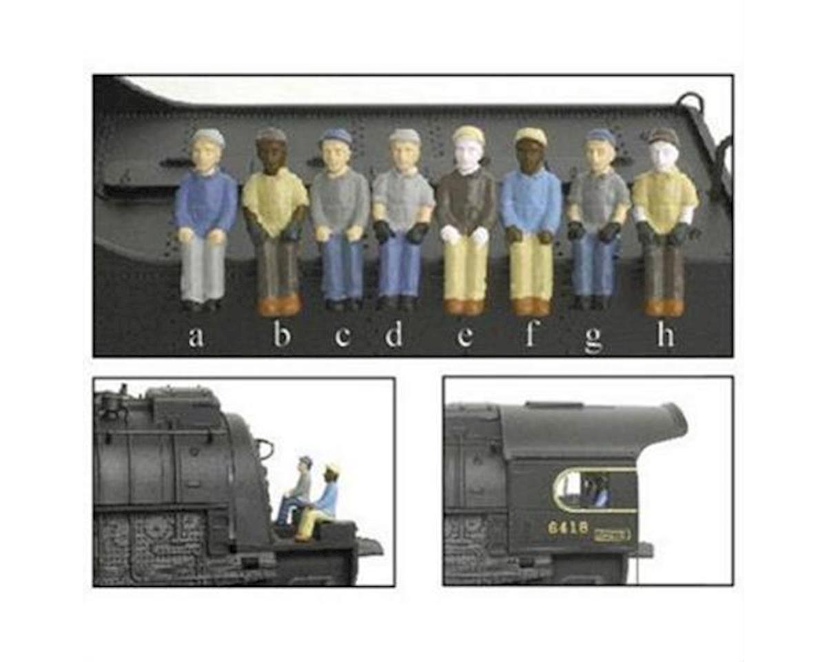 Broadway HO Engineer/Fireman A (a,b,c,d) (4)
