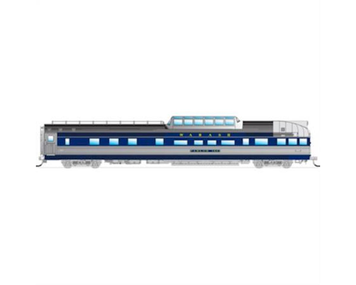Broadway HO Dome Observation Car, WAB/Bluebird #1601