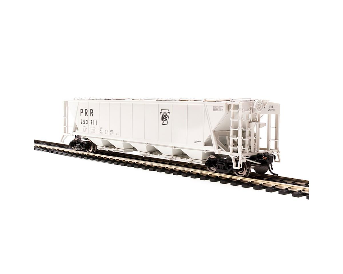 HO H32 Covered Hopper, PRR/Gray/Black Keystone (4)