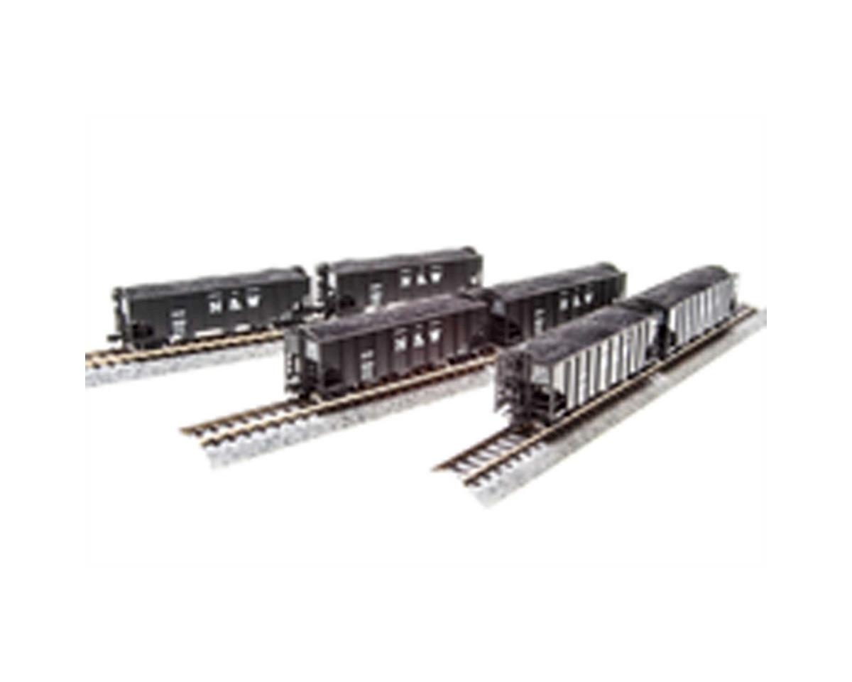 "N H2A 3-Bay Hopper, N&W 24"" Lettering Pack D (6) by Broadway"