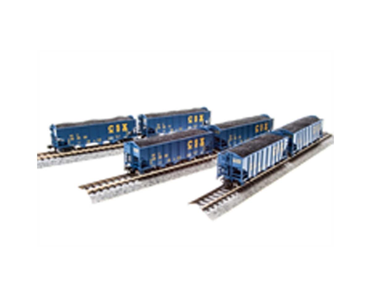 Broadway N H2A 3-Bay Hopper, CSX/Blue/Yellow Lettering B(6)