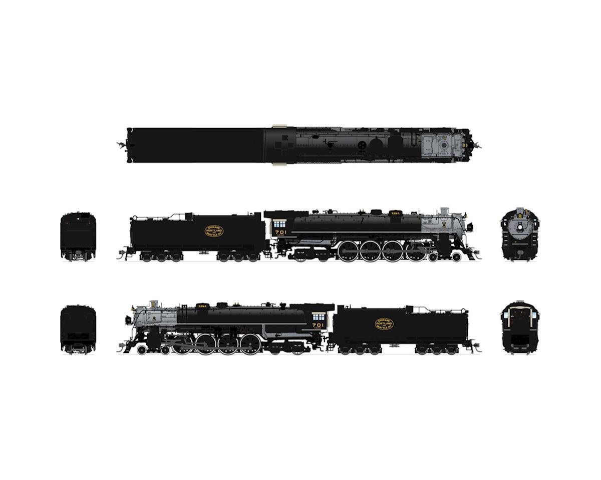 HO Brass E-1 4-8-4 w DCC & Paragon 3 SP&S #702