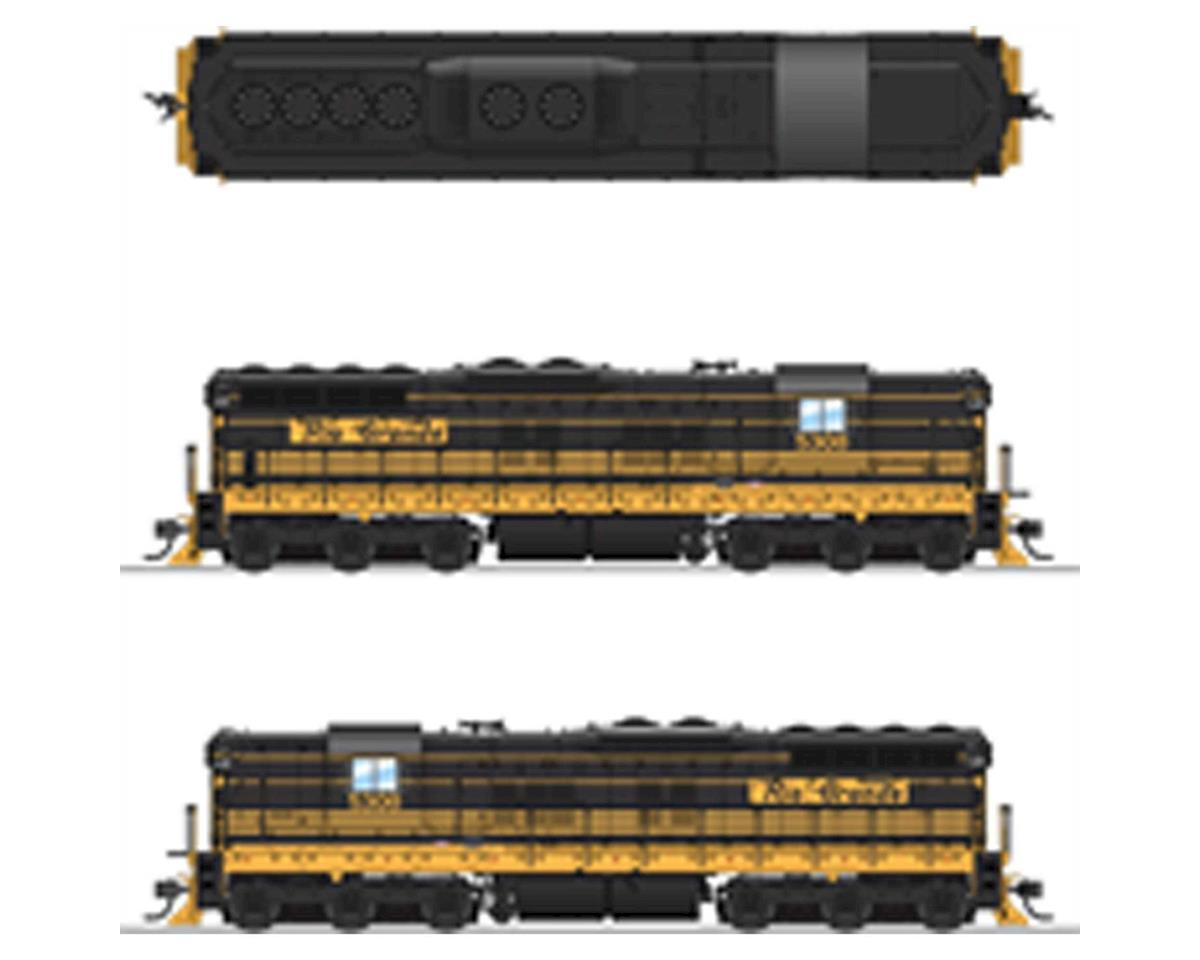 Broadway HO SD9 w/DCC & Paragon 3, D&RGW/Bumblebee #5309