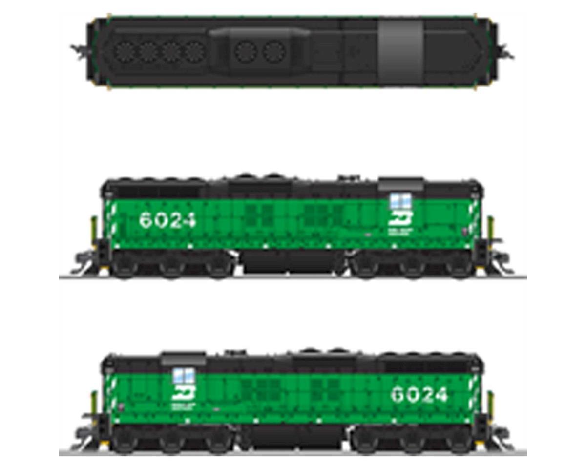 Broadway HO SD7 w/DCC & Paragon 3, BN/Green/Black #6024