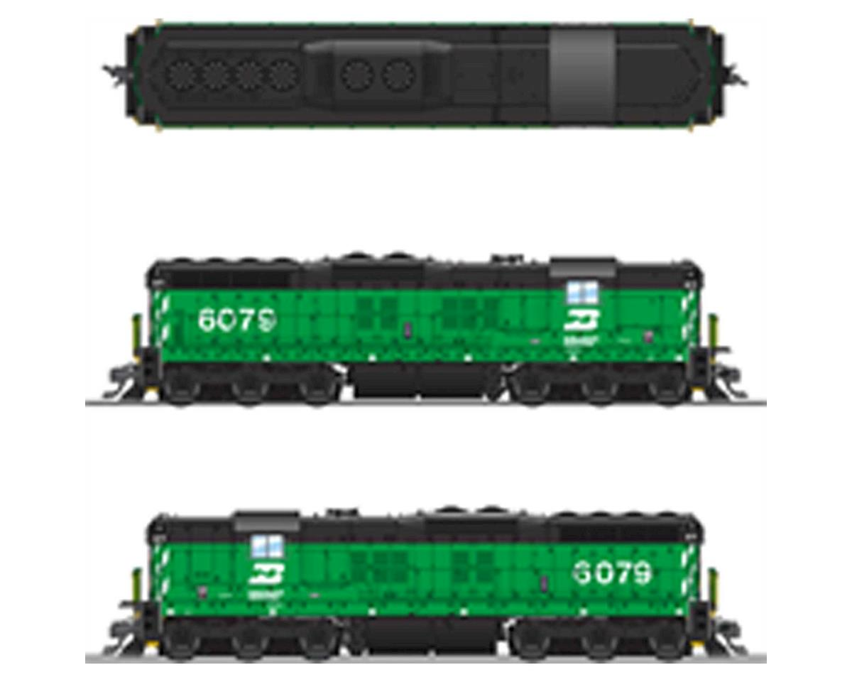 Broadway HO SD7 w/DCC & Paragon 3, BN/Green/Black #6079